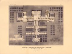 Foto  Photo - Image  Prent L' Emulation 1922 - Home Anti Tuberculose Bredene - Architecte Dewin - Estampes & Gravures
