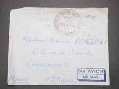"""FRANCE - Cachet """" Troupe Française D 'Extrême Orient Etat Major  SP 50630 """" Sur Enveloppe En FM Pour La France - L 9279 - Marcophilie (Lettres)"""