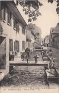 Guebwiller ( Haut Rhin) Rue Du Canal Avec Laveuse / Lavandière - Guebwiller