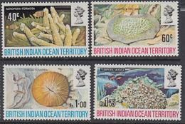 C0462 BRITISH INDIAN OCEAN TERRITORY (BIOT) 1972, SG 41-4  Corals   MNH - British Indian Ocean Territory (BIOT)