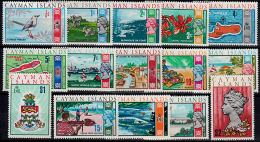 E0225 CAYAMAN ISLANDS 1970, SG 273-87 Decimal Definitives  MNH - Cayman (Isole)
