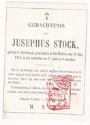 DP 17j. Jusephus Stock ° Assebrouck Assebroek 1841 † Sint-Michiels Brugge 1858 - Images Religieuses