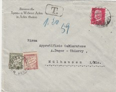 Allemagne Lettre De Arlen Taxée En France 1929 - Germania