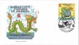 Enveloppe Commémorative 1er Jour Horoscope Chinois Année Du Dragon - Nuevos