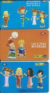 3 Tc Poupées Doll Sjeu Games Jouet  Télécarte Brésil Phonecard (S. 188) - Jeux