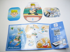 KINDER SD729 TEEN IDOLS Stickers Et Cards Cody Simpson + BPZ - Steckfiguren