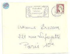 RHONE - Dépt N° 69 = FLEURIE 1964 = FLAMME Non Codée Thème VIN =  SECAP  Illustrée ' CENTRE TOURISTIQUE / VINS' - Storia Postale