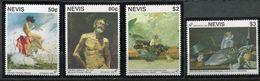 Nevis ** N° 648 à 651 - Granada  1992 - Tableaux - Central America