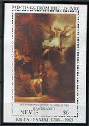 Nevis **  Bloc 65 - Bicentenaire Du Louvre - Central America