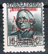 Sello Patriotico MALAGA 15 Cts, Guerra Civil, Edifil Num 14 ** - Emisiones Nacionalistas