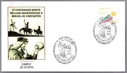 400 Años Muerte De WILLIAM SHAKESPEARE Y MIGUEL DE CERVANTES. Cantu, Como, Italia, 2016 - Schriftsteller