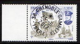 France 2017.Centenaire De L'entrée En Guerre Des Etats Unis.Cachet Rond  Gomme D'orine. - France