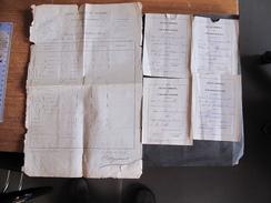 CHARLEROI-COLLEGE COMMUNAL- 1877/1878 -Bulletins De MASAUX Pierre De Courcelles - Diploma & School Reports