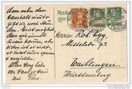 IV44 - Entier Postal Envoylé De Zurich En Allemagne 1923 - Ganzsachen