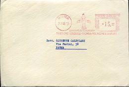 22812 Italia ,red Meter/freistempel/ema/roma 1960 Cei Incom Sculpture Of David Michelangelo, Cover As Scan - Machine Stamps (ATM)