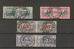"""SOUTH AFRICA 1938 VOORTREKKER CENTENARY MEMORIAL FUND SET SG 76/79 VERY FINE USED WITH """"DURBAN 13.1.39"""" CDS Min Cat £24+ - Used Stamps"""