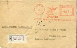 22831 Italia ,red Meter/freistempel/ema/milano 1953 Tana Ufficio Vendita, Cover As Scan - Poststempel - Freistempel