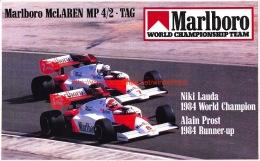 Marlboro McLaren MP 4/2 TAG - Niki Lauda Alain Prost - Automobile - F1
