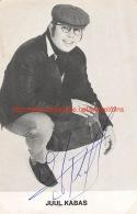 Juul Kabas - Zanger Chanteur - Autographes
