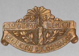 WW1, Vétérans American Legion, USA, NEW YORK, 1937, Pelerinage En France - USA