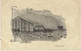 MERCEDES HÔTEL / Place De L'Etoile / PARIS  -ed. Ph Rosen  - - Pubs, Hotels, Restaurants