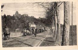 DUN-SUR-MEUSE CONVOI DE POILUS AVEC LEURS VOITURES (CARTE ALLEMANDE) - Dun Sur Meuse