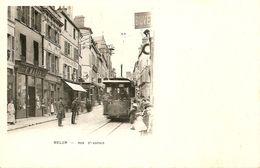 Melun, Rue Saint Aspais,Tramway Et Magasin Marie, Animée. - Melun
