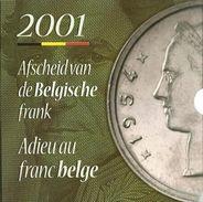 FDC Setje  2001  Frans + Vlaams - 1993-...: Albert II