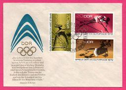 FDC - J.O. - Gymnastique - Athlétisme - Saut - DDR - Spieler Der XX Olympiade - Johannes R. BECHER - Berlin - 1972 - Sellos