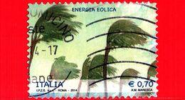 ITALIA - Usato - 2014 - Energie Rinnovabili - 0,70 - Energia Eolica - 6. 1946-.. Republik