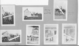 Avril 1917 Marne Chamery Officiers Français Au Repos équitation Et Et Jeu Bilboquet 7 Photos Ww1 14-18 - War, Military