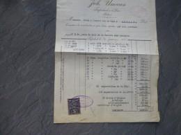 Bohème Pour Ambert (63) Timbre Fiscal 1920 Sur Facture Cristaux  Joh Umann ; Ref 390 VP 36 - Czechoslovakia