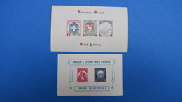 Guatemala,  2 Bloc Feuillet  - Homenaje A La Union Postal Universal 1949  -  Asistencia Social Neuf** - Guatemala