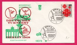 FDC - Deutsches Turnfest - Escrime - Gym - FIDACOS - N° 18378 - DDR - Berlin 1968 - Sonderpostwertzeichen Ersttagsbrief - Escrime