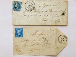 FRANCE - 2 Lettres (fragments), 1865 + 1869 - 1863-1870 Napoléon III. Laure