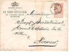 TP 57 FB S/L.Société Royale Des Ex Sous-Officiers De L'Armée Belge C.Namur + C.bleu De La Société Superbe JS31 - Militaria