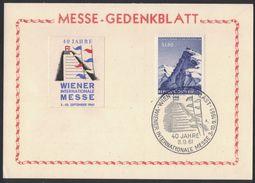 TH18     Österreich, Austria - Sonderstempel - 40 Jahre Wiener Internationale Messe 1961 - Affrancature Meccaniche Rosse (EMA)