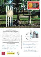 4152c: AK 2404 Petronell- Carnuntum Werbekarte, Mit Briefmarke Heidentor, Gelaufen Post.Partner Petronell 19.6.17 - Geschichte