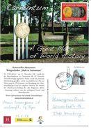 4152d: AK 2404 Petronell- Carnuntum Werbekarte, Mit Briefmarke Heidentor, Gelaufen Post.Partner Petronell 19.6.17 - Militaria
