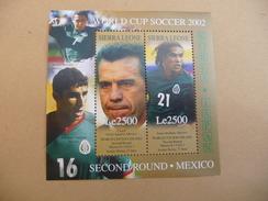 """BLOC  FEUILLET  COUPE  DU  MONDE  2002  """"  MEXIQUE  """"  NEUF  LUXE** - Coupe Du Monde"""