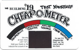 Cheap-O-Meter From The Building #19 With Thermal Test Window - Other Collections