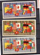 1964 Flag MNH Michel 40-2 VF Compete Set (b36) - Bhutan