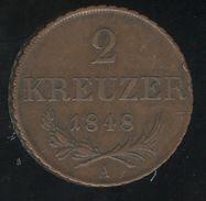 2  Kreuzer Autriche / Austria 1848 - SUP - Austria