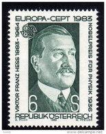 ÖSTERREICH 1983 ** Viktor Hess - Nobelpreis Für Physik / Europa CEPT - MNH - Physik