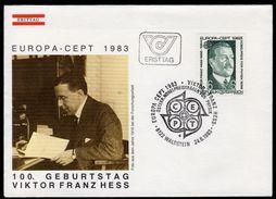 ÖSTERREICH 1983 - Viktor Franz Hess / Nobelpreis Physik / Europa CEPT - SStp.FDC - Physik