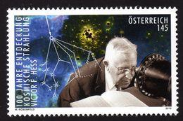 ÖSTERREICH 2012 ** Victor Hess / Nobelpreis Physik - 100 J. Entdeckung Kosmischer Stahlung - MNH - Physik