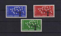 EUROPA CEPT CIPRO 1962  Mi. 215 217 Un. 207 209GOMMA INTEGRA MNH ** - Cipro (Repubblica)