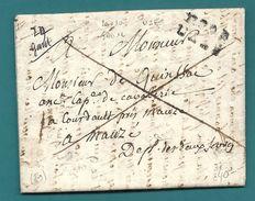 Gard - Uzes Pour Un Ancien Capitaine De Cavalerie à Mauzé (Deux Sèvres). LAC En Port Payé - Marcophilie (Lettres)
