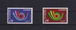 EUROPA CEPT ANDORRA FRANCESE 1973 GOMMA INTEGRA MNH ** - Andorra Francese