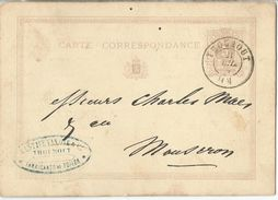 """6Rm-688: DC: THOUROUT > Mouscron : GUSTAVE VAN OYEN & C°  Fabricants De TOILE.... Er Is Zelfs Een """" Reke """" Van.... - Postkaarten [1871-09]"""